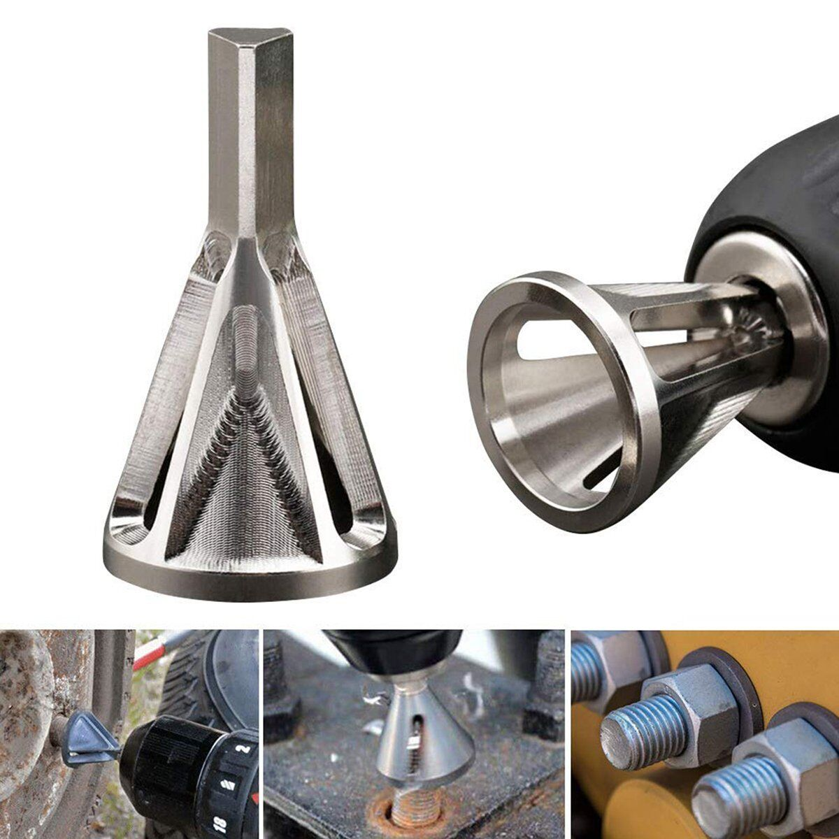 Stainless Steel Remove Burr Tools Drill Bit Durable Deburring External Chamfer