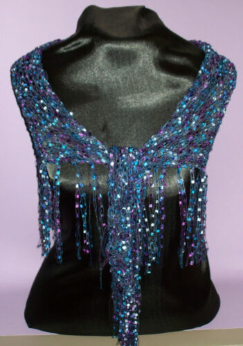 Dressy Shawlette BlueLaven Shawl Perfect for Parties and the Holidays!