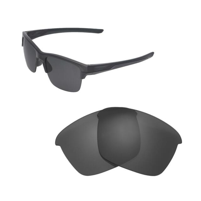 4302e4ebf3 New Walleva Black Polarized Replacement Lenses For Oakley Thinlink  Sunglasses