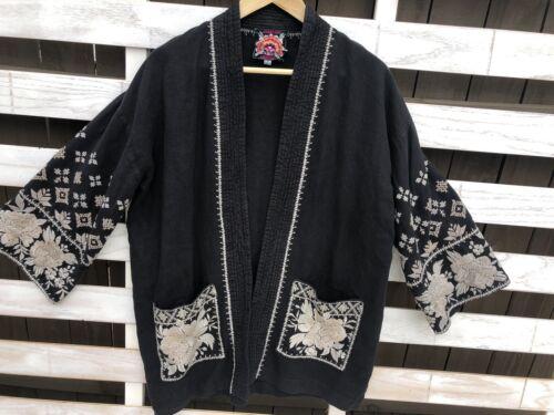 Johnny Was Sienne Women's Jacket Kimono Black Line
