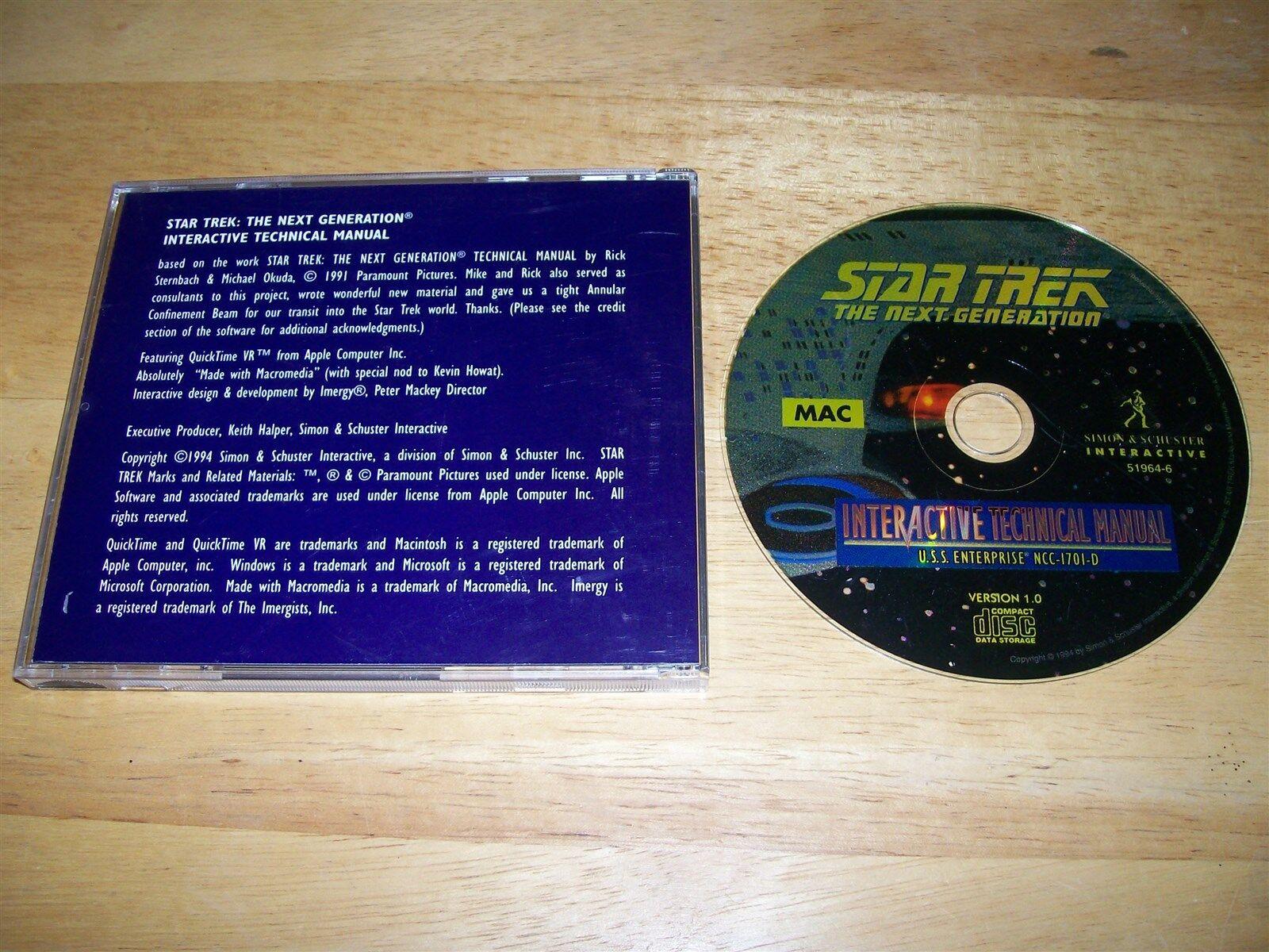 Star Trek: The Next Generation -- Interactive Technical Manual (Apple, 1994)