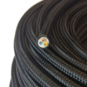 Textilkabel-Stoffkabel-Textilleitung-rund-schwarz-3x0-75mm-H03VV-F
