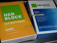 2011 2012 2013 2014 2015 H&R Block Basic 1040 Federal turbo Tax Cut New 4 Boxes