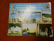 1950s LOVABLE PROVINCE DE QUEBEC TRAVEL BOOKLET