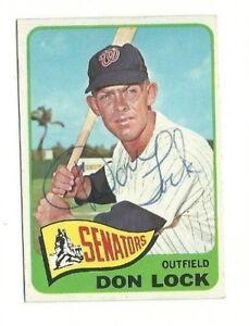 Don-Lock-1965-Topps-signed-auto-autographed-card-Senators