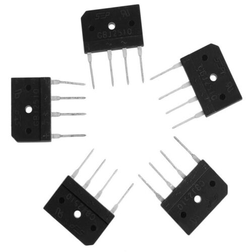 5Pcs GBJ2510 2510 25A 1000V Single Phases Diode Bridge Rectifiers SEP