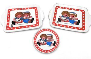 Raggedy-Ann-and-Andy-Mini-Serving-Tray-Plates-Decorative-Collectibles