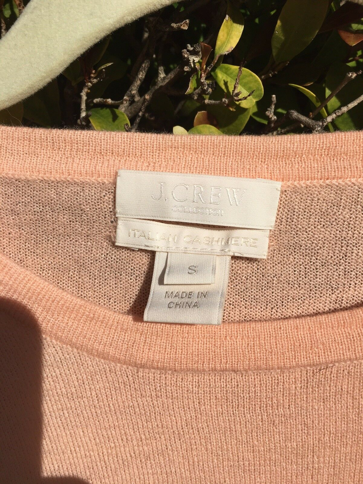 J. CREW COLLECTION Italian Featherweight Cashmere Long Long Long Sleeve T-Shirt Sweater S 9f0407