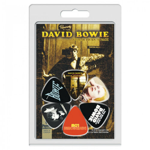Perri/'s David Bowie Pick Choice of 6 Designs or 12 Designs Plectrum Pack