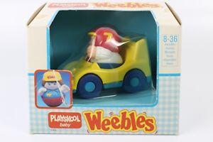 Detalles de Coche De Juguete Vintage 1989 Weebles Playskool Bebé Hasbro 4.8