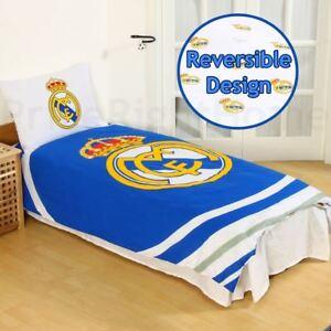 Real Madrid Cf Puls Einzelbettbezug Set Wende Football Bettwäsche