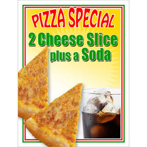 Image Is Loading Pizza Special Poster 2 Slice Cheese Plus