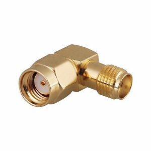 RP-SMA Male to SMA Female right angle connector - UK seller