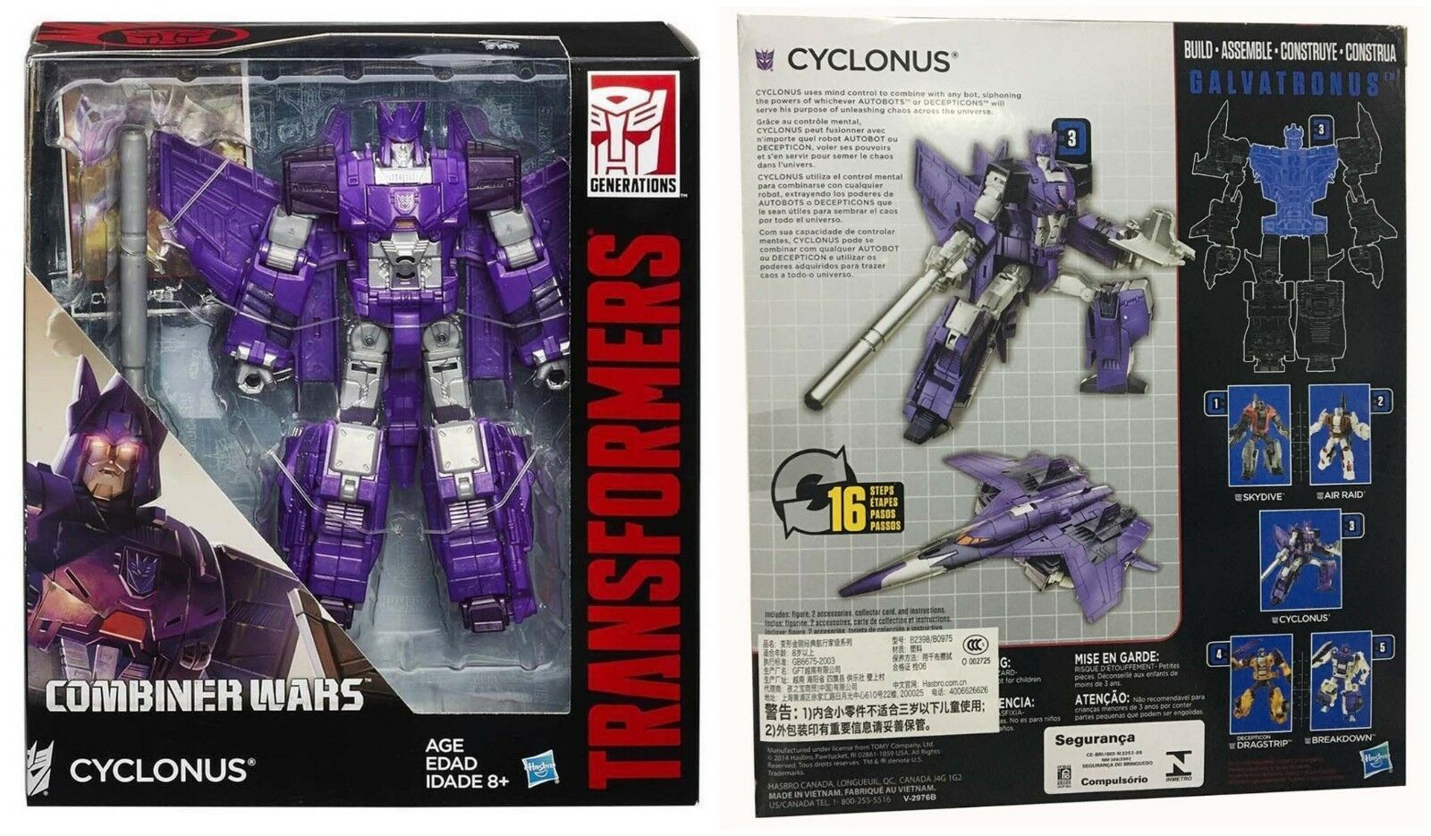 Transformers Generations Combiner Wars CYCLONUS Voyager Class Gift Toys Hot New