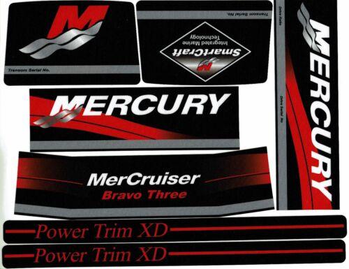 Mercruiser Bravo Tre Originale Colori 2016 Decalcomanie W//Rosso Rams Adesivo Di
