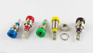 10x Multimeter Instrument 4mm Binding Post Banana Socket Panel Mount Test Probe