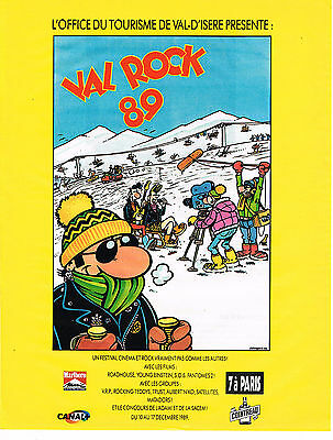 Other Breweriana Imported From Abroad Publicite Advertising 094 1989 Val D'isere Le Val Rock