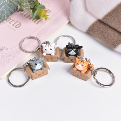Lovely Cartoon Cat Key Rings Chains Pendant Ornaments For Bags Car Keychain BSCA