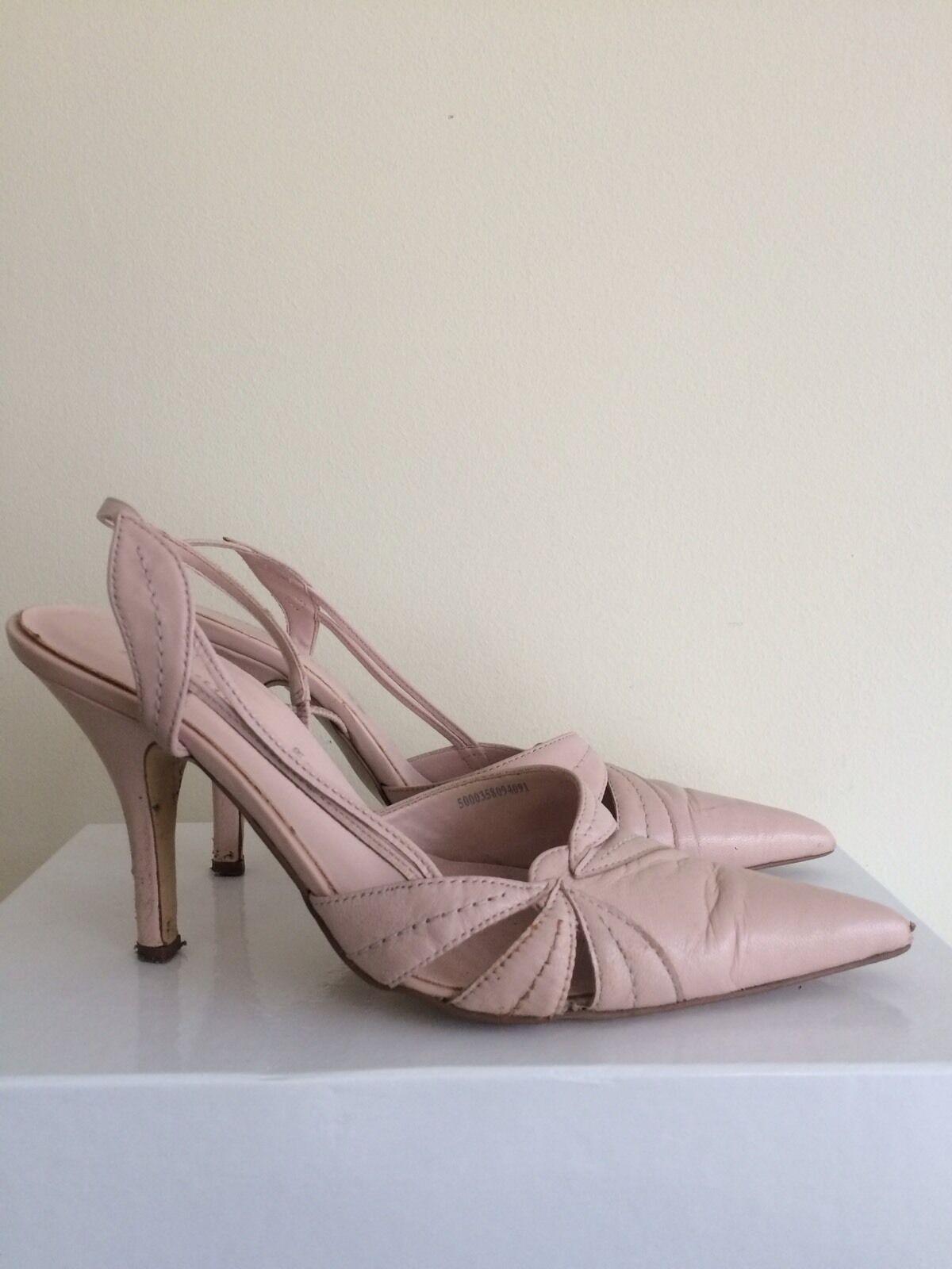 F&F Women's Pastel Pink Slingback Size Heels Sandals. Size Slingback 682f1d