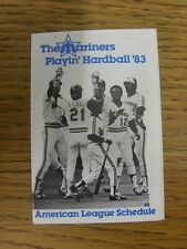 1983 Fixture Card: Baseball - Seattle Mariners (fold out style). Any faults with
