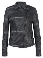 Muubaa Safi Leather Tye Dye Jacket in Thunder. RRP £419. UK 10. M0456.