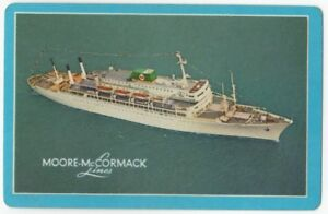 Playing-Cards-Single-Card-Old-MOORE-McCORMACK-LINES-Shipping-Advertising-Ship-1