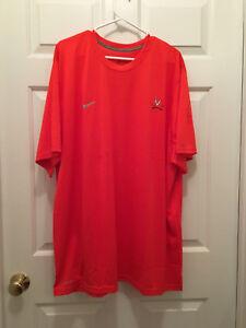 New Virginia UVA Cavaliers Football Team Issued Orange Nike Dri-Fit T-Shirt XL