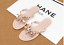 Crystal-Thong-Sandals-Jelly-Flip-Flop-Clinch-Bolt-Wome-Summer-Flat-Rivet-Bowknot thumbnail 6