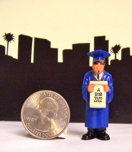 1 Lil Homies Series # 5 School Boy Graduation Class Grad 2002 Figurine Figure
