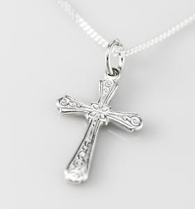 Kreuz Anhänger mit Kette-925er Sterling Silber Made in Italy-neu