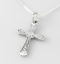 Echt-925-Sterling-Silber-Kette-mit-Anhaenger-Silber-Kreuz