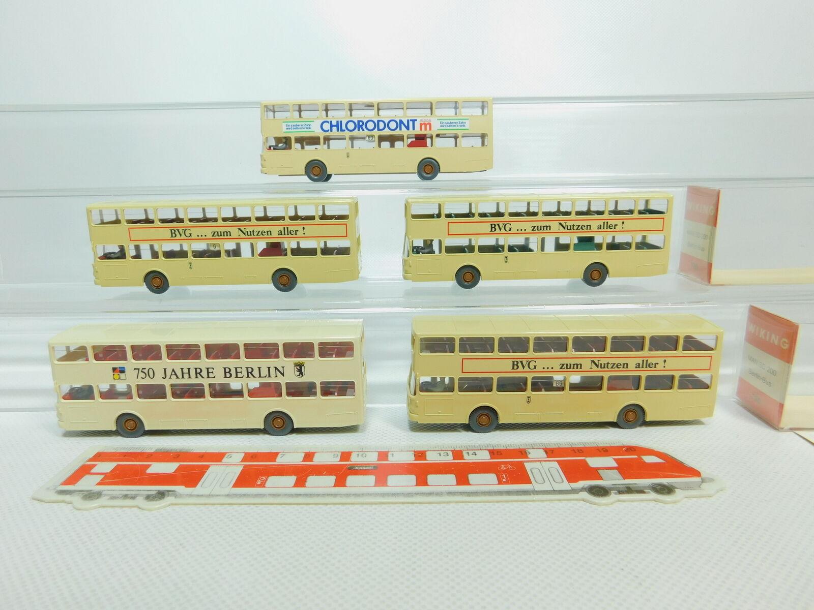 Bo782-0,5   5x wiking h0   87 730 bus de berlin omnibus - mann - sd 200,2x ovp