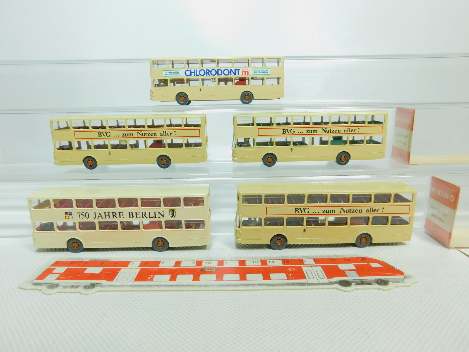 Bo782-0,5   5x wiking h0   87 730 bus berlino omnibus - mann sd - 200, 2x ovp
