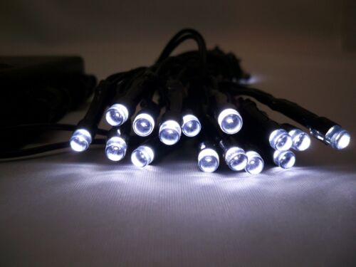 2 Set di 30 LED WHITE outdoor indoor BATTERIA 3M FAIRY stringa luci di Natale
