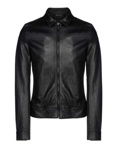 DE Herren Lederjacke Biker Men/'s Leather Jacket Coat Homme Veste En cuir R56
