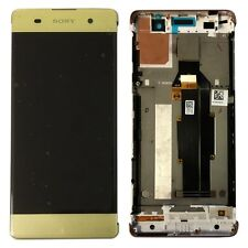 Sony Display LCD Komplett mit Rahmen für Xperia XA F3111 F3112 Lime-Gold Ersatz