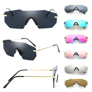 Fashion-Women-Men-Retro-Sunglasses-Oversize-Square-Frame-Irregular-Metal-Glasses