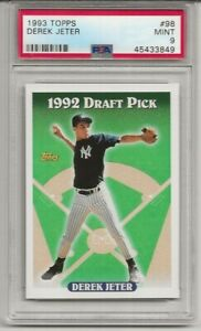 1993-TOPPS-98-DEREK-JETER-PSA-9-MINT-RC-ROOKIE-HOF-NEW-YORK-YANKEES-L-K