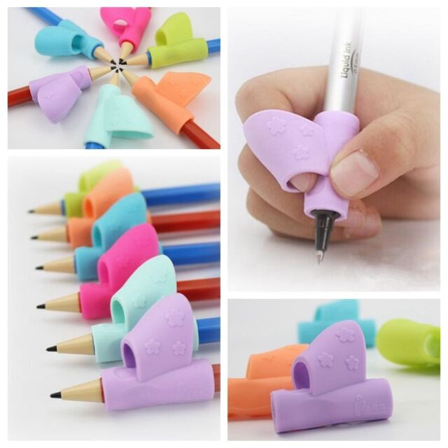 3Pcs Children Pencil Holder Pen Writing Grip Posture Correction Tool FD