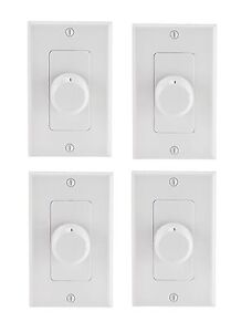 Details about 4 Pack Rotary Speaker Volume Control Wall Mount Home Ceiling  Speaker Dial (New)