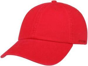 Stetson Rector Baseballcap rot Basecap Cap Mütze Snapback Kappe Verstellbar Hut