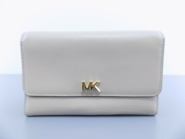 ec865cbe4fd5 MICHAEL KORS $ MONEY PIECES Beige Clutch Womens Wallet CARRYALL L16