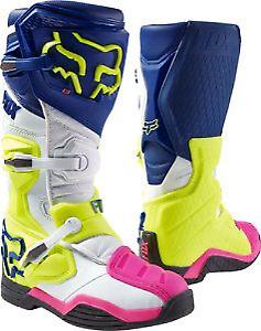 Betrouwbaar 2017 Fox Comp 8 Motocross Boots - Navy/ White Uk12 Verschillende Stijlen