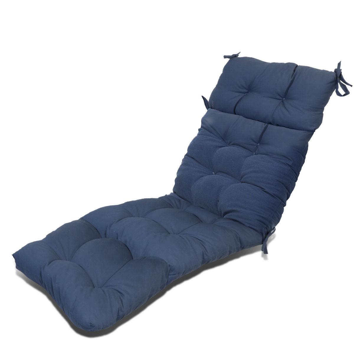 Outdoor Patio Pretty Wicker Chaise Lounge Chair Cushion ...