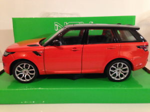 Range-Rover-Sport-Rouge-Orange-Welly-24059-Neuf-1-24-Echelle