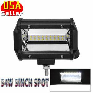 5Inch-54W-Spot-LED-Work-Light-Bar-Offroad-Fog-driving-Light-Auto-ATV-SUV