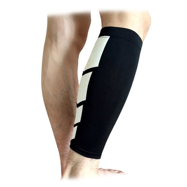 US Calf Support Compression Leg Sleeve Sports Running Socks Outdoor Exercise AM