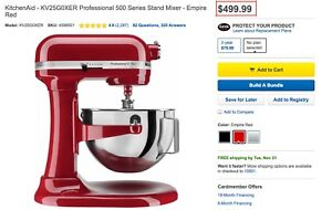 Kitchenaid Professional 500 Series Stand Mixer Empire Red Ebay