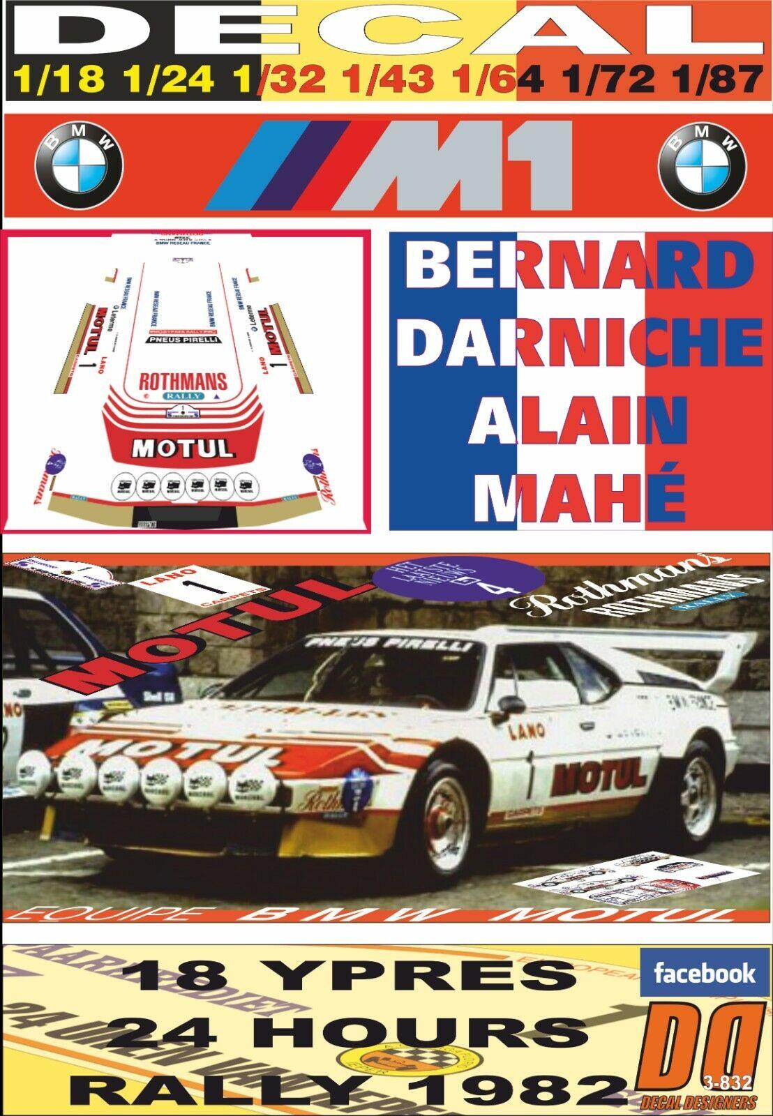 DECAL BMW M1 B.DARNICHE YPRES 24 timmar R. 1982 DnF (03)