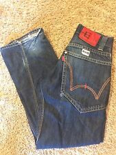 Men's VGUC EDWIN JEANS Sz 28/Small E-Function Twisted Seams Straight Leg Jeans